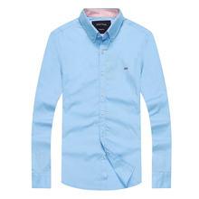 Moda clássica eden park marca camisas dos homens sólido manga longa blusa masculino algodão chemise hombre topos