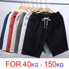 6XL 7XL 8XL 9XL Summer Linen Shorts Men 2020 Casual Shorts Trunks Fitn