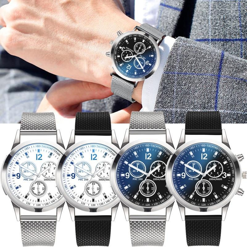 Ultra-thin Mesh Men Watches Quartz Trendy Silica Gel Blue Ray Men Wrist Watch Male Watches Quartz Clock Gift Relogio Masculino