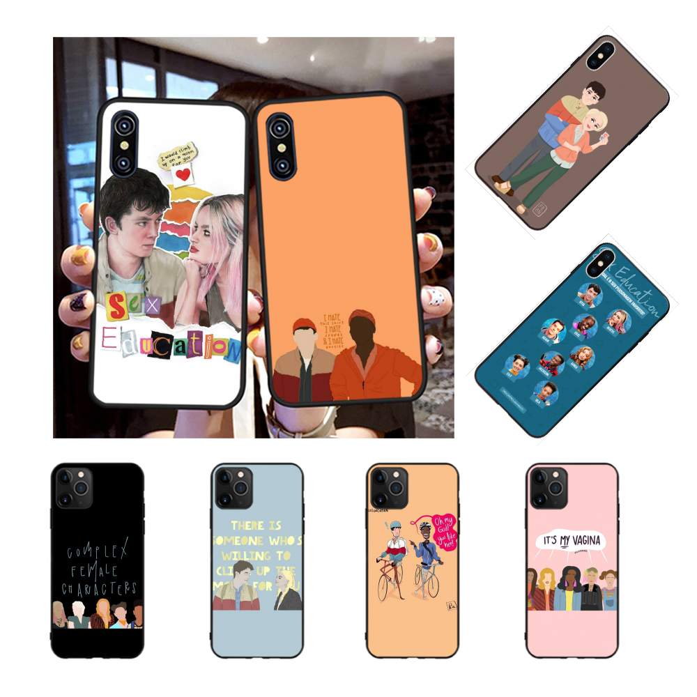 NBDRUICAI <font><b>Sex</b></font> Education Phone <font><b>Case</b></font> Cover for <font><b>iPhone</b></font> 11 pro XS MAX 8 <font><b>7</b></font> 6 6S <font><b>Plus</b></font> X 5S SE XR Black <font><b>case</b></font> image