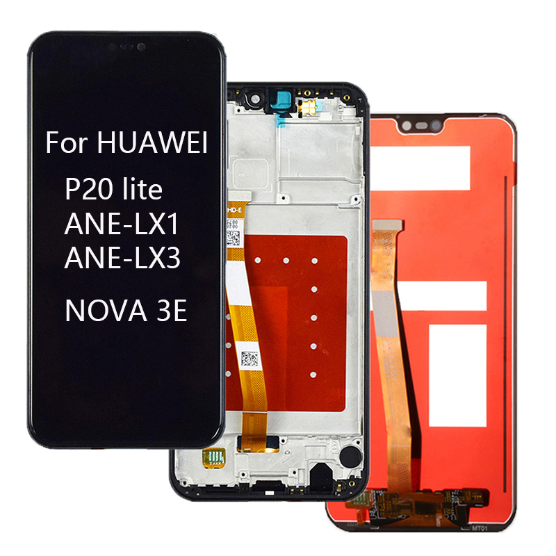 For HUAWEI P20 Lite LCD With Frame For Nova 3e Touch Screen Pantalla For HUAWEI P20 Lite Display ANE-LX1 ANE-LX3 LCD digitizer