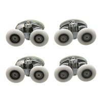 4 x Twin Top Shower Glass Door Rollers Runners Pulleys Wheels 25mm|Door Rollers| |  -