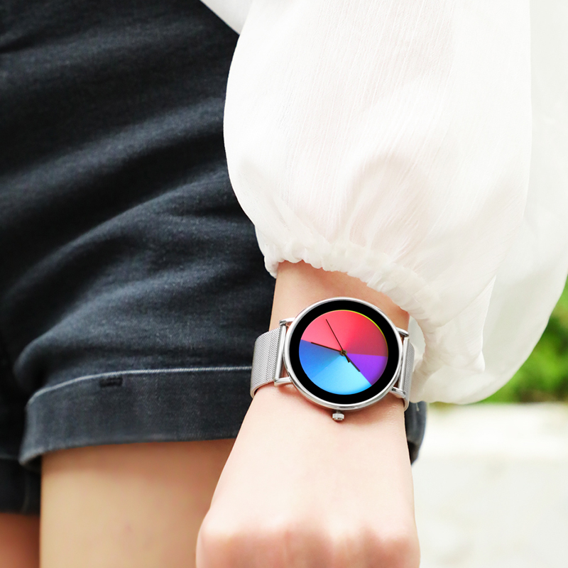 Women New Watches Creative Wristwatch Ladies Clock Color Rotate Stainless-Steel Clock Montres Femme Reloj Mujer Relogio Feminino