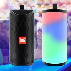 Image 2 - TG169 Bluetooth haut parleur Portable extérieur haut parleur sans fil colonne 3D stéréo musique Surround avec FM étanche lampe de poche LED
