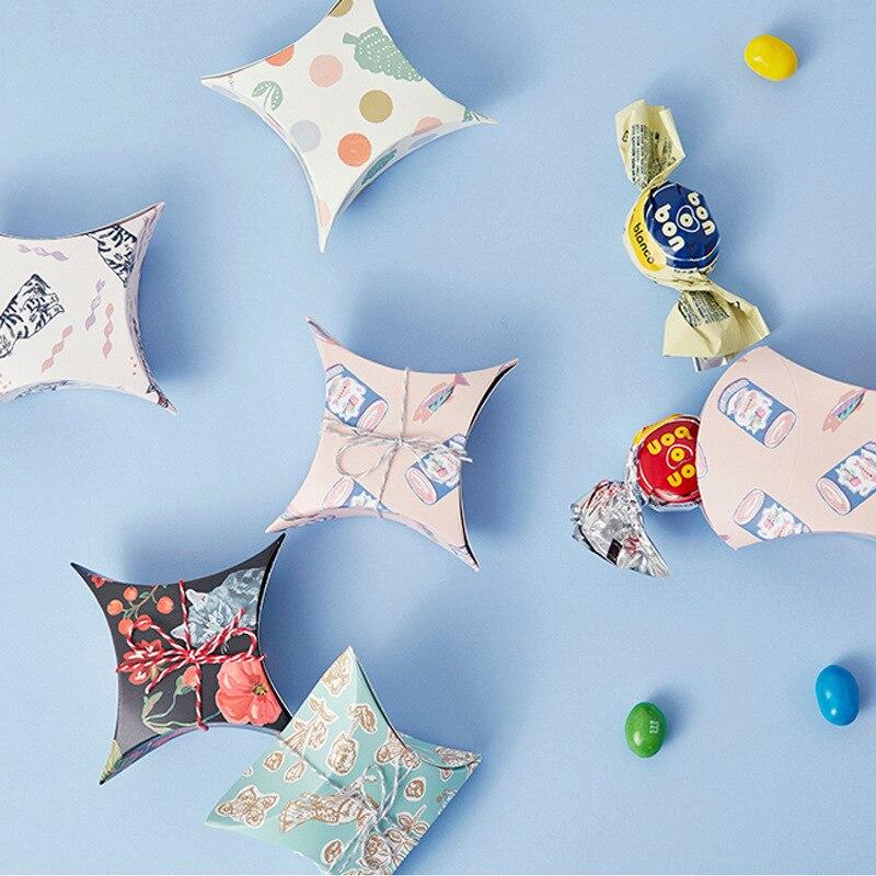 Boîte-cadeau de fleur d'emballage de papier de sucrerie sac-cadeau de faveurs de mariage 50pcs de boîte de sucrerie d'anniversaire de douche de bébé
