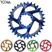 Roda dentada estreita para bicicletas vxm, coroa estreita larga para bicicletas margaridas gxp xx1 x9 xo x01 peças de reparo de sprocket 32/34/36/38t
