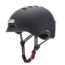 Riding-Helmet Light-Scooter Electric-Bicycle Safety-Cap Protective Adults with Flashing-Light