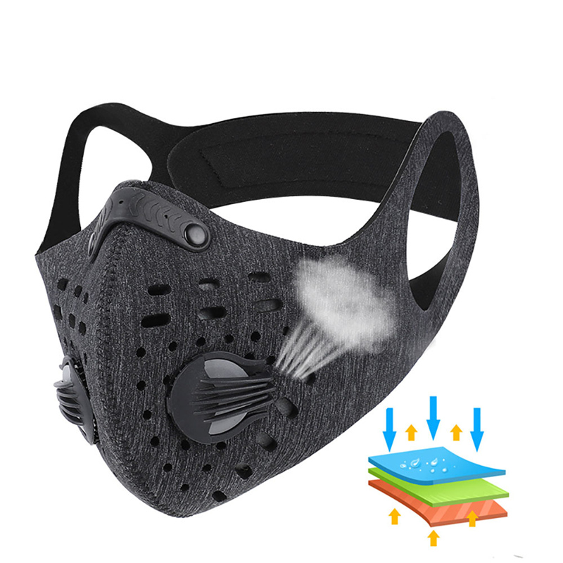 Reusable Respirator Face Mouth Dust Mask Breathing Valve Fliter PM2.5 Satefy Protective Mask Sports Face Respirator Cycling Mask
