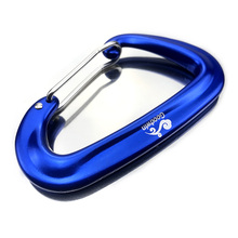 4 Pack Aluminum Wire Gate Carabiners - Heavy Duty, 2,697-pound Rating for Hammocks, Camping, Hiking & Utility