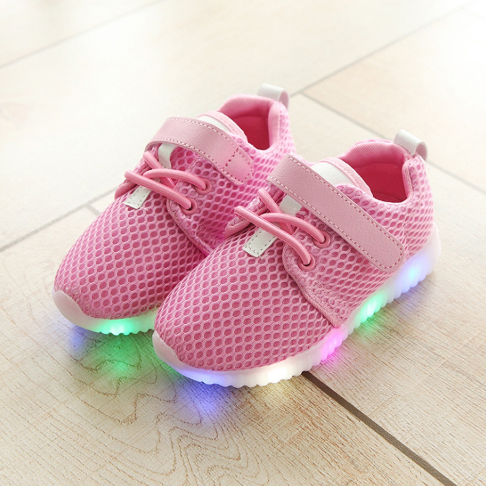 Toddler Boys Girl Sport Running LED Shoes Children Sneaker Baby Kids Trainers