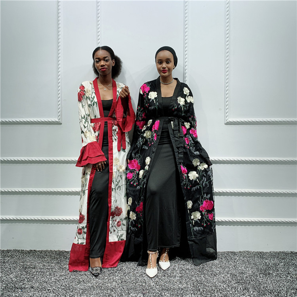 Abaya Kimono Cardigan Muslim Hijab Dress Kaftan Dubai Caftan Turkish Islamic Clothing Saudi Arabia African Dresses For Women UAE