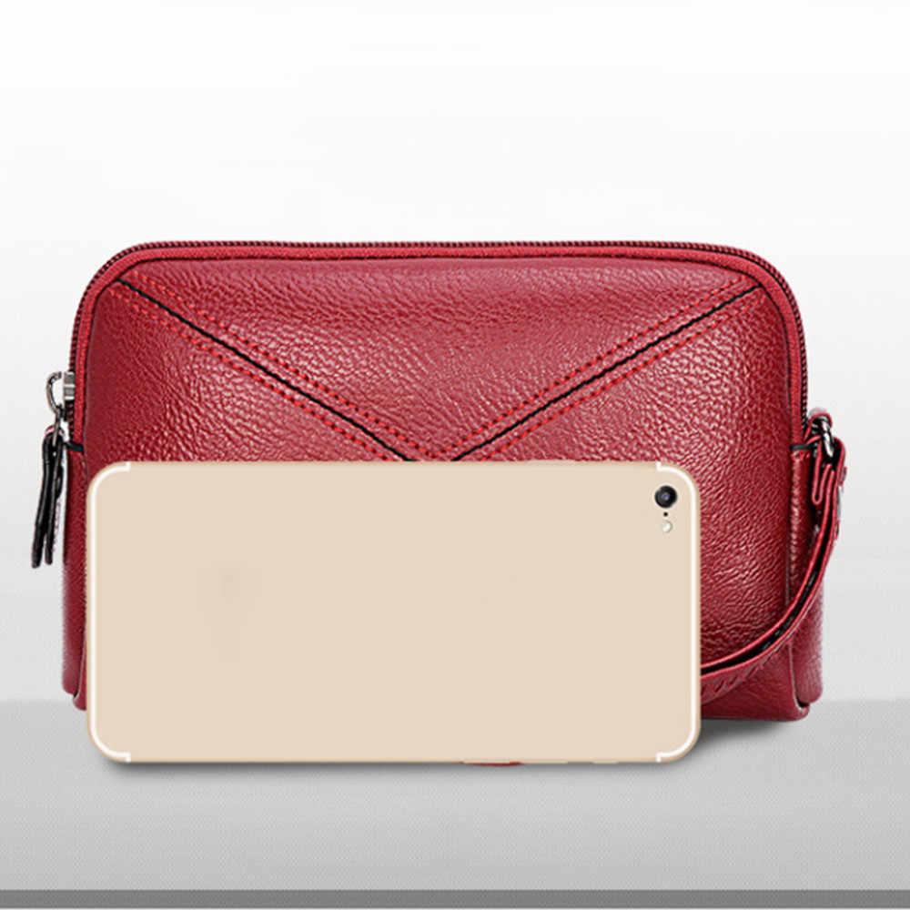 Maison Fabre modna torebka damska Retro mała kopertówka seksowna elegancka skórzana torba dziewczyny zamek mini torebka telefon wygodna torba pani