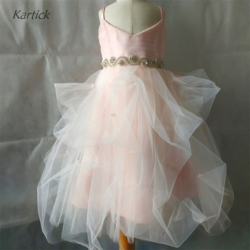 Princess Flower Girl Dress for Wedding Real New Girl's Pageant Gown with Bow Ball Gown First Communion Party Kids/Children Dress 2016 new spring flower girl princess dress kid party pageant wedding bridesmaid tutu ball bow white dress 2 4 6 8 10 12 years