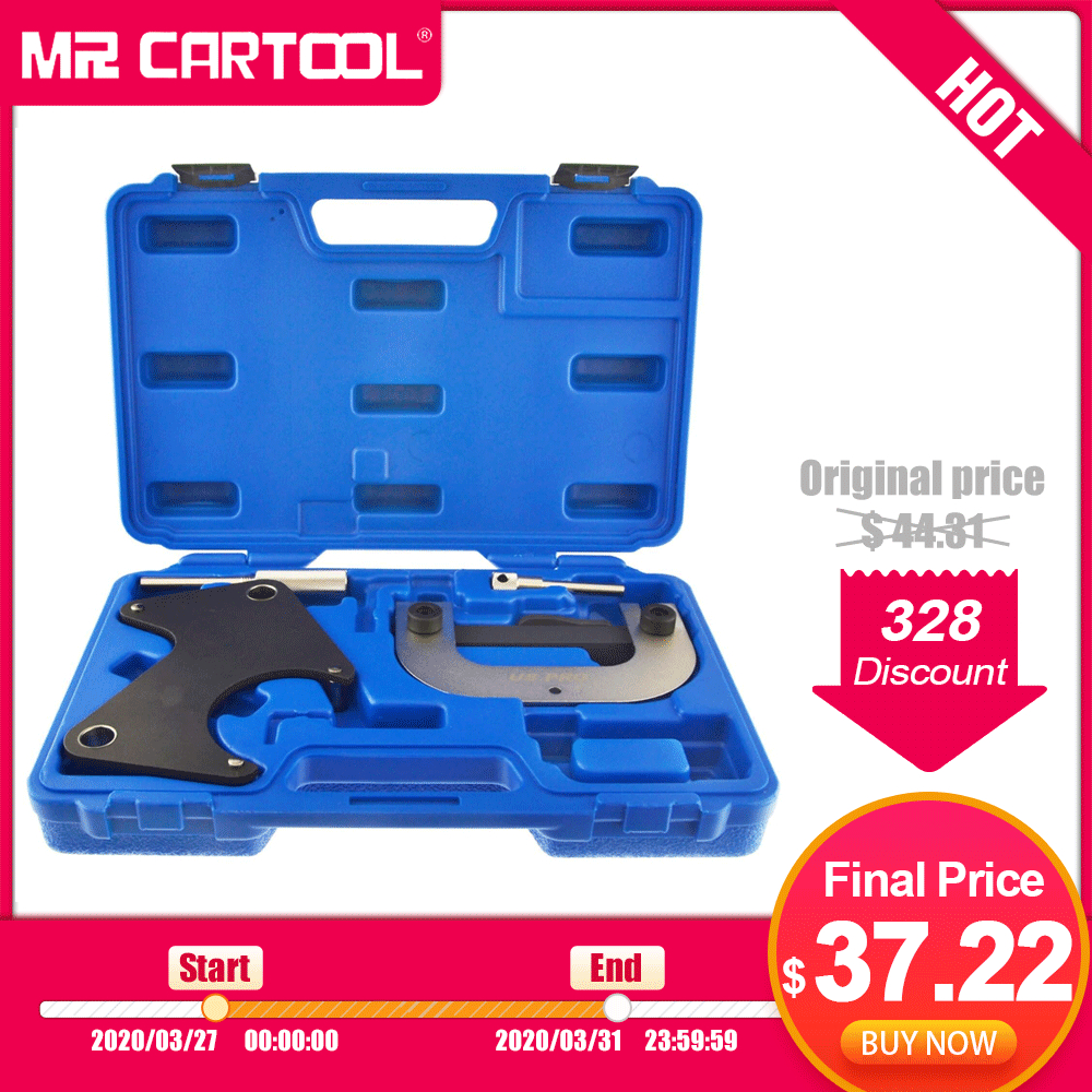 MR CARTOOL Engine Timing Locking Setting Tool Kit For Renault Clio Meganne Laguna AU004 Camshaft Alignment Locking Timing Tool