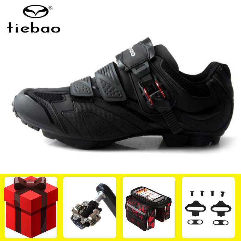 Tiebao Cycling Shoes Non-slip sapatilha ciclismo mtb chaussure vtt Mountain Bike Auto-lock Bicycle men Sneakers women