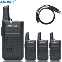 4 قطعة ABBREE AR A2 صغير مفيد لاسلكي تخاطب VOX USB تهمة UHF اتجاهين راديو Comunicador جهاز الإرسال والاستقبال Woki Toki VOX bf 888s