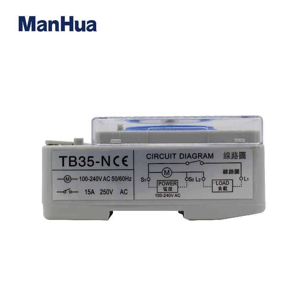Manhua Tb35n 100 240v 15a Din Rail Water Heater Programmable Timer Switch Time Controller Mechanical Timer Switch Mechanical Timer Mechanism Daily Timercycle Timer 220v Aliexpress