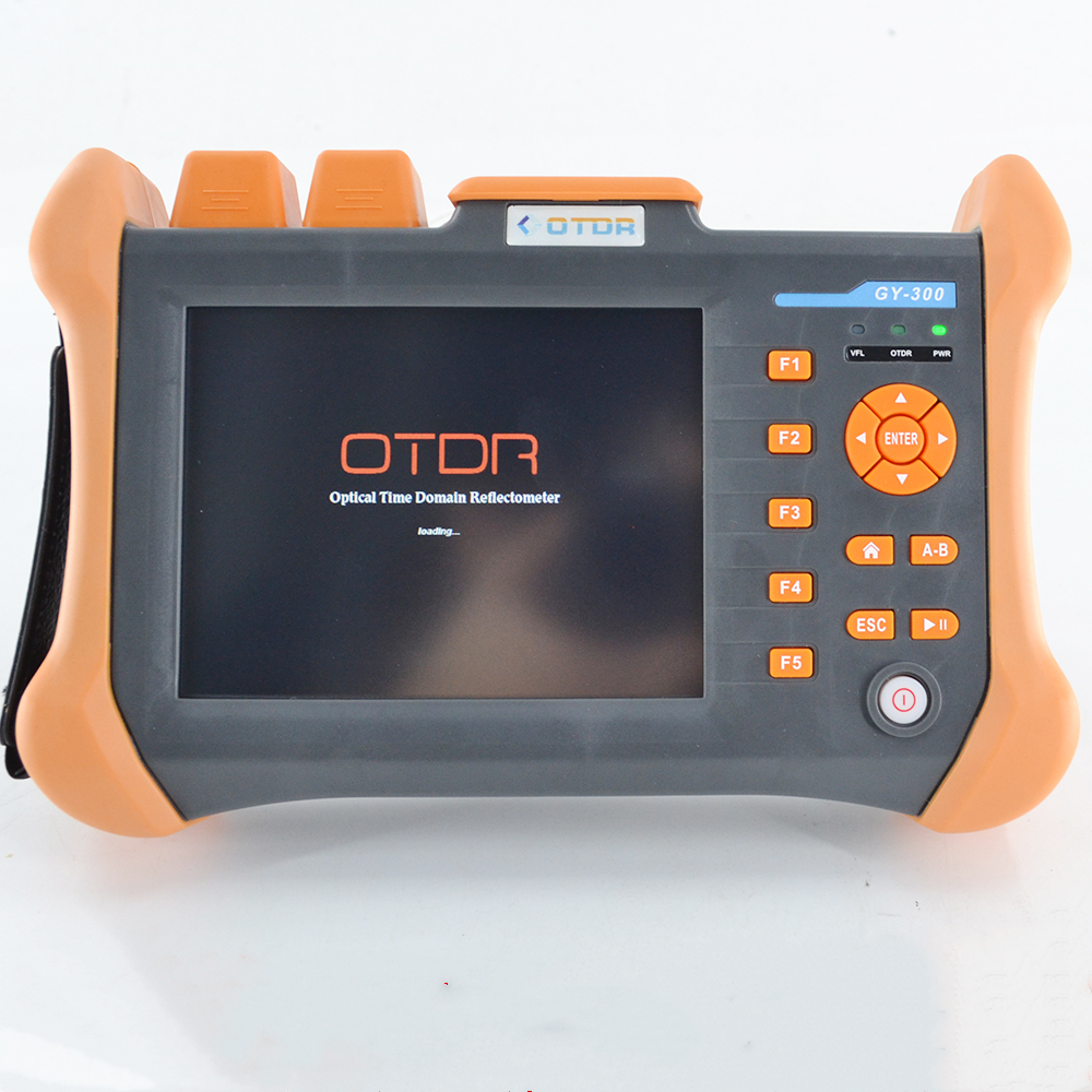 Free Shipping OTDR 1310/1550nm 28/26dB,Integrated VFL, Touch Screen Optical Time Domain Reflectometer VFL