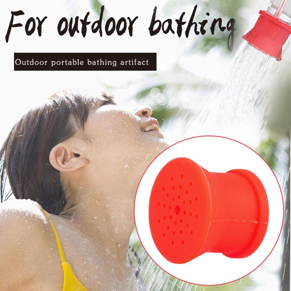 Outdoor Simple Shower Head Portable Outdoor Silicone Shower Head Camping Bathing Supplies Multifunction Flower Sprinkler Tools