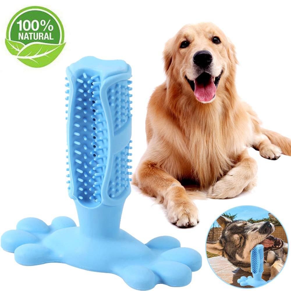 Dog Toothbrush Pet Chew Toy Dog Toothbrush Brushing Puppy Teething Brush For Doggy Pets Oral Care Stick Bite Toys