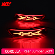 цена на Rear Bumper Light COROLLA 2014-2018 Car LED Reflector Rear Fog Lamp  High brake light Brake Light Rear warning light
