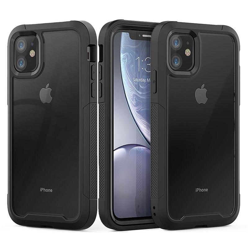 Para iPhone 12 11 XR XS Max 8 7 Plus a prueba de golpes a prueba híbrida del teléfono de la armadura caso para iPhone 11Pro Max 6S Plus duro del TPU de la PC 2 in1 de la cubierta completa 1