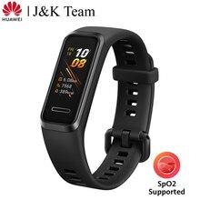 Huawei להקת 4 חכם להקת דם חמצן Spo2 הגלובלי גרסה חכם שעון קצב לב בריאות צג חדש שעון פרצופים USB תשלום התוספת