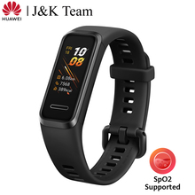 Huawei banda 4 banda inteligente spo2 oxigênio no sangue versão global relógio inteligente monitor de freqüência cardíaca saúde novos rostos relógio usb plug carga