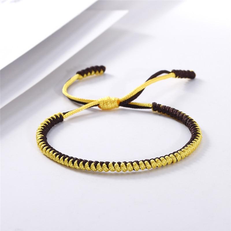 Original Multi Color Bracelet Tibetan Buddhist Lucky Handmade Knots Rope Adjustable Charm Bracelets&Bangle for Women Men Jewelry