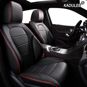 KADULEE de cubierta de asiento de cuero de coche para Mercedes Benz B Clase C de la CIA CLK CLS ML GLA GLK GLE S E G Accesorios Estilo de coche