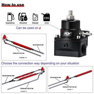 Image 4 - شحن مجاني AN8 منظم ضغط الوقود العالي ث/boost 8AN 8/8/6 EFI منظم ضغط الوقود مع مقياس WLR7855