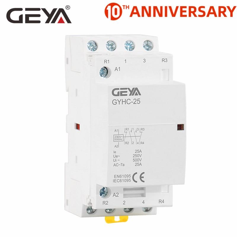 24V Contacteur CA 2P 63A 24V 220V//230V 50//60Hz Contacteur CA domestique Montage sur rail DIN 2NO