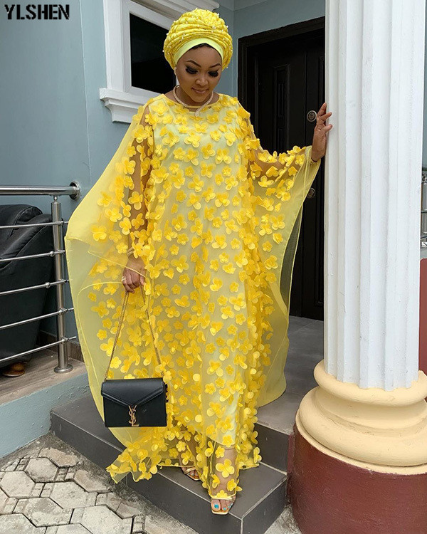 Length 150cm African Dresses For Women 2019 Africa Clothing Muslim Long Dress High Quality Length Fashion African Dress For Lady