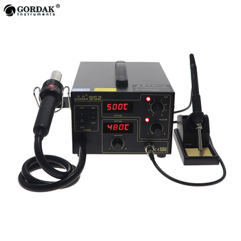 GORDAK 952 double digital display 2 in 1 rework station desoldering station SMD thermostatic soldering station hot air gun