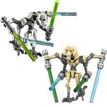 General star wars robô grievous com sabre de luz batalhas droid modelo bloco de construção brinquedos educativos presente para crianças