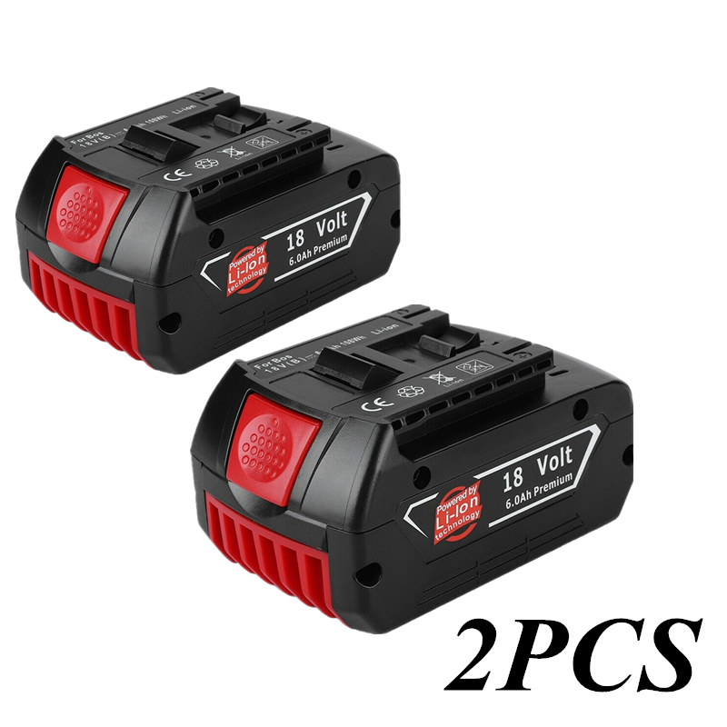Li-Ion-Battery Replacement Rechargeable Bosch 18v 6000mah for Indicator-Light BAT609 title=