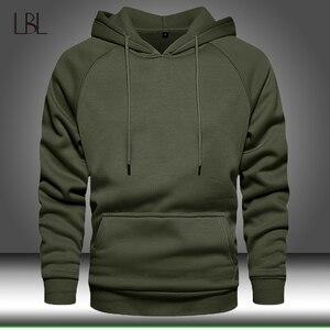 Hoodies Sweatshirts Men Solid Color Hoodie Hip Hop Streetwear Outwear Autumn Winter Long Sleeve Hoody Male Pullover Tracksuit