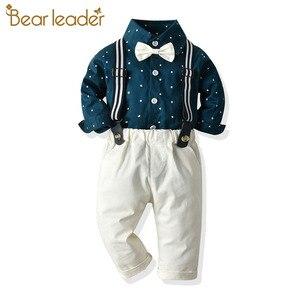 Bear Leader/эксклюзивная Одежда для мальчиков; Осенняя одежда для малышей; Костюм для малышей; Одежда для маленьких мальчиков; Комбинезон с галст...