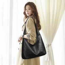 Vintage Women Hobos Bag Large Female Shoulder Bags Casual Soft Patchwork PU Leather Big Ladies Bags High Quality Luxury Handbags doodoo 2017 new women pu soft handbags fashion style cover satchels patchwork shoulder bags c c channel high quality versatile