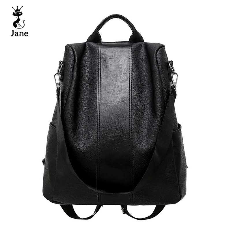 Sac à dos élégant en cuir pour femmes Anti-vol décontracté sac à dos Vintage école sacs à dos épaule noir/marron mode sac de voyage