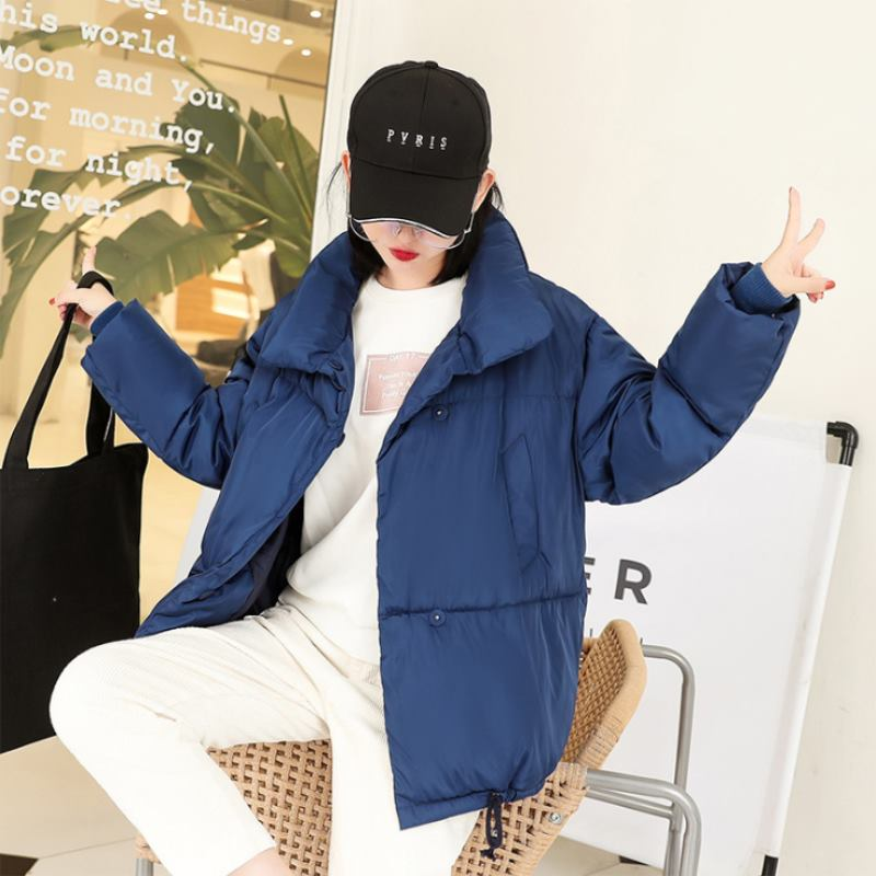 2019 New Autumn Winter Loose Cotton Jacket Down   Parkas   Women BF Style Thick Padded Coat Plus Size Short Outwear Female Clothing