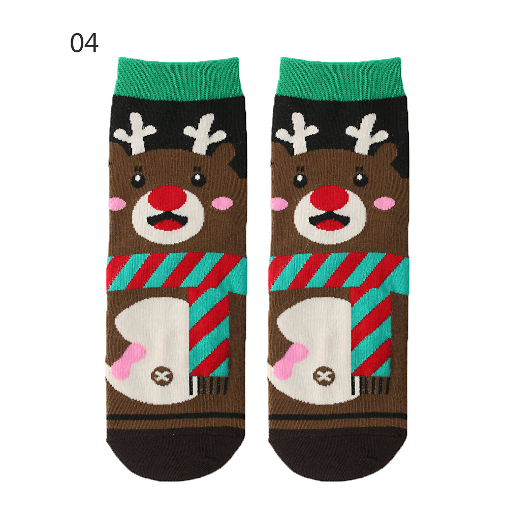 Hd00b15ce0e5b433b9a15f255bb89965eE - 1pair Fashion Christmas Socks Women Cartoon Funny Cute Winter Female & Hosiery Cotton Square Foot Personality Socks Harajuku