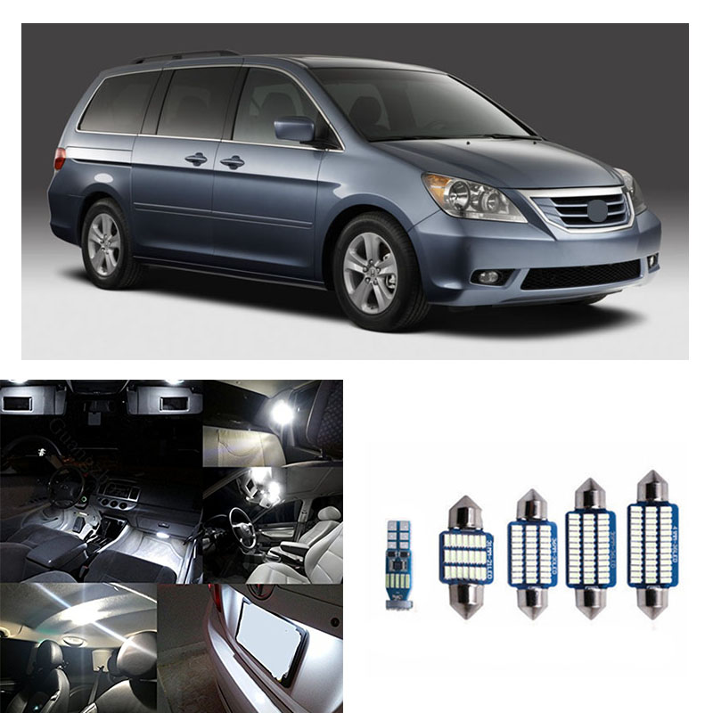 15pcs Interior LED Light Package Kit White for 2005-2010 Honda Odyssey