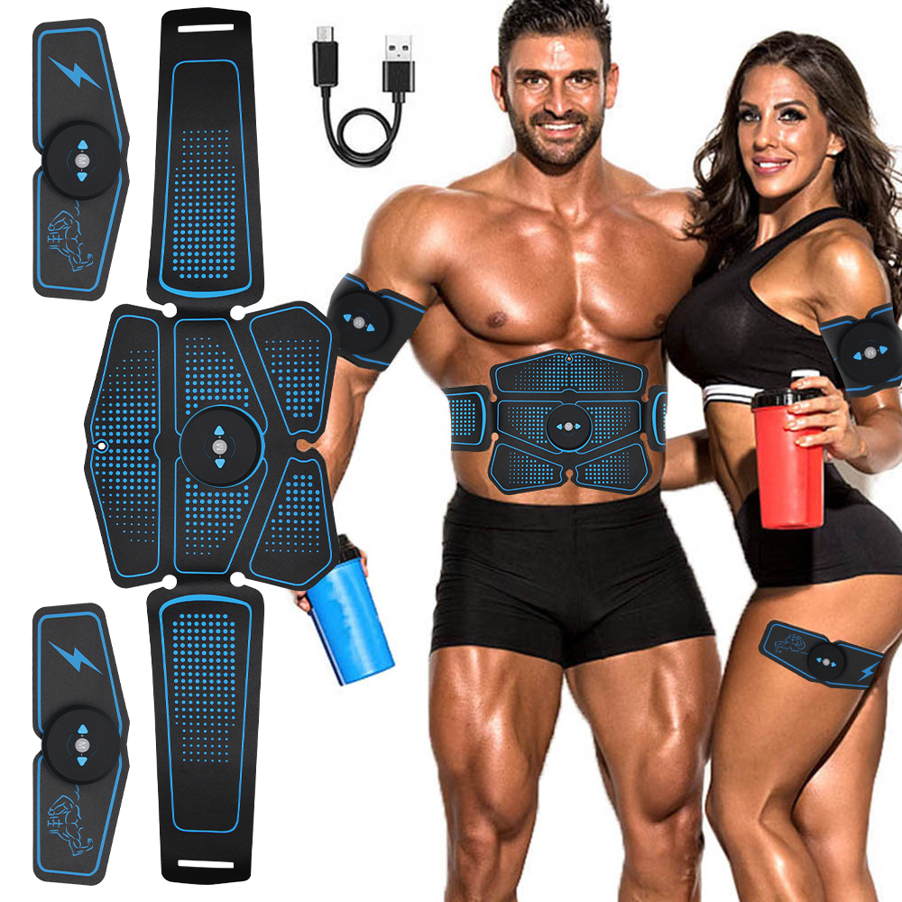Abdominal Muscle Stimulator Trainer EMS Abs Weight Loss Fitness Equipment Training Electrostimulator Toner Exercise Gym Set image