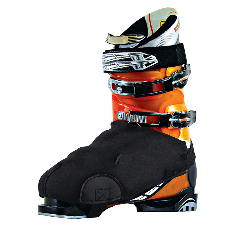 Thicken 1 Pair Ski Snow Boots Cover Antifreeze Waterproof  Warm Protector With Wear-resistant Side Pad Black One Size Fits