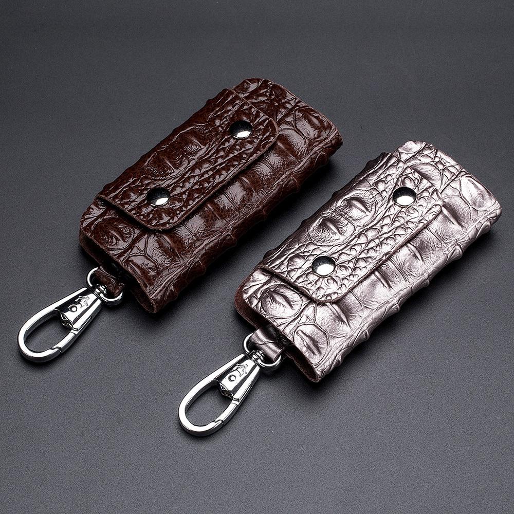 Key Holder Leather Keys Organizer Keychain Small Wallets Key Bag Car Housekeeper Key Wallets Car Key Case Unisex
