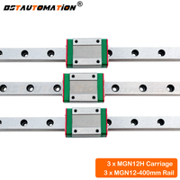 CNC linear guide MGN12 400mm miniature linear rail MGN12H Linear carriage bearing for 3d printer