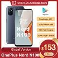 Глобальная версия Oneplus Nord N100 Смартфон Snapdragon 460 5000 мАч Android 10 13MP тройной камеры 90 Гц 20:9 Дисплей мобильный телефон чехол для телефона