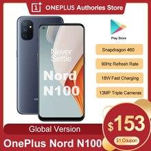 Globalna wersja Oneplus Nord N100 Smartphone Snapdragon 460 5000mAh Android 10 13MP potrójne kamery 90Hz 20:9 wyświetlacz telefon komórkowy