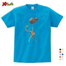 Impressão dos desenhos animados madagascar verão nova camisa t gloria melman bonito engraçado t camisa verão enviar crianças presente de aniversário roupas dos miúdos